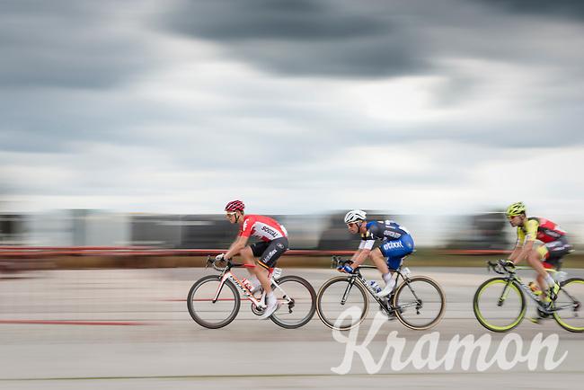 Michael Goolaerts (BEL/Lotto-Soudal), Iljo Keisse (BEL/Etixx-QuickStep) & Matteo Draperi (ITA/Wilier-Southeast) speeding along<br /> <br /> 101st Kampioenschap van Vlaanderen 2016 (UCI 1.1)<br /> Koolskamp › Koolskamp (192.4km)