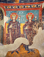 Twelfth Century Romanesque frescoes of the Apse d'Estaon. The church of Santa Eulalia d'Estaon, Vall de Cardos, Pollars Sobira, Spain. National Art Museum of Catalonia, Barcelona. MNAC 15969