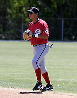 March 31, 2004:  William Bergolla of the Cincinnati Reds organization during Spring Training at Ed Smith Stadium in Sarasota, FL.  Photo copyright Mike Janes/Four Seam Images