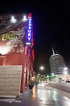 The Redbury Hotel, an SBE property, and the Capitol Records Building in Hollywood, Los Angeles, CA