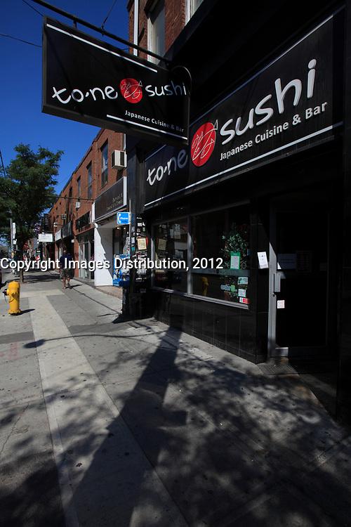 Toronto (ON) CANADA - July 2012 - Queen street west -suchi