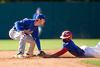 Jake Mueller (35) of Richland Northeast High School in Columbia, South Carolina playing for the New York Mets scout team at the South Atlantic Border Battle at Doak Field on November 2, 2014.  (Brian Westerholt/Four Seam Images)