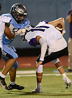 Fayetteville quarterback Bladen Fike (11) is sacked by Fort Smith Southside's John Parkinson (89) on Friday, Oct. 8, 2021 in Fort Smith. (Special to NWA Democrat Gazette/Brian Sanderford)