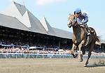 09 August 1: Jamie Theriot rides Dublin to victory in the 6th race  on Jim Dandy Stakes day at Saratoga Race Track in Saratoga Springs, New York.