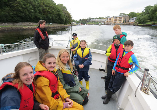 Junior anglers from Newport Sea Angling Club in Co Mayo, whose youth angling initiative previously received funding under the IFI Sponsorship Programme