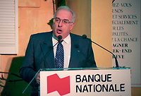 Montreal (Qc) CANADA - April 22,1995 File Photo- Andre Berard, President , banque Nationale