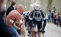 Tom Boonen (BEL/Etixx-QuickStep) places a 'Boonen-attack' up 'his' Taaienberg<br /> <br /> Omloop Het Nieuwsblad 2015