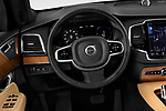 Car pictures of steering wheel view of a 2018 Volvo XC90 T8 Twin Engine Plug-in Inscription 5 Door SUV