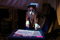 "October 24, 2013 -  Opening  of  the  Grevin Montreal Museum - Samuel De Champlain.<br /> <br /> Samuel de Champlain (August 13, 1574 – December 25, 1635), ""The Father of New France"", was a French navigator, cartographer, draughtsman, soldier, explorer, geographer, ethnologist, diplomat, and chronicler. He founded New France and Quebec City on July 3, 1608. He is important to Canadian history because he made the first accurate map of the coast and he helped establish the settlements."