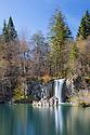 Waterfall at Upper Lakes, Plitvice Lakes National Park, Croatia. November.