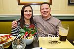 Caroline and Damien Lyons from Abbeydorney enjoying the evening in the Brogue Inn on Saturday.