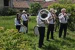 Long Sutton Friendly Society annual Club Walk Day. 2019. Sherborne Town Band Charity Farm.