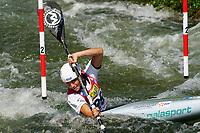 4th September 2021; Parc Olimpic del Segre, La Seu D'Urgellm ICF Slalom World Cup, Women's Kayak Final;  Romane Prigent (FRA)