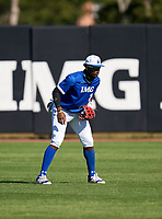 IMG Academy Ascenders outfielder Elijah Green (2) during a game against the Lakeland Dreadnaughts on February 20, 2021 at IMG Academy in Bradenton, Florida.  (Mike Janes/Four Seam Images)
