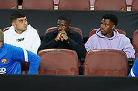 20th September 2021; Nou Camp, Barcelona, Spain; La Liga football league;  FC Barcelona versus Granada;   Pedri, Dembele and Ansufati on the substitutes bench