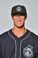 Asheville Tourists pitcher J.D. Hammer (34) poses for a photo at Story Point Media on April 4, 2017 in Asheville, North Carolina. (Tony Farlow/Four Seam Images)