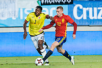 Oscar Murillo of Colombia competes for the ball with Gerard Deulofeu of Spain during the friendly match between Spain and Colombia at Nueva Condomina Stadium in Murcia, jun 07, 2017. Spain. (ALTERPHOTOS/Rodrigo Jimenez) (NortePhoto.com) (NortePhoto.com)
