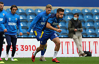 Luke O'Neill of AFC Wimbledon warming up during AFC Wimbledon vs Shrewsbury Town, Sky Bet EFL League 1 Football at The Kiyan Prince Foundation Stadium on 17th October 2020