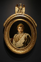 Part of the Ben Weider's collection on Napoleon at Montreal Museum of Fine Arts.<br /> <br /> Bust lenght portrait of Napoleon I in coronation Robes (portrait en buste de Napoleon I en costume de sacre), circa 1805, Baron Francois-Pascal-Simon Gerard<br /> <br /> Photo : Pierre Roussel - Agence Quebec Presse<br /> <br /> <br /> <br /> <br /> <br /> <br /> <br /> <br /> <br /> <br /> <br /> .