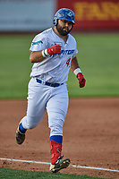David Maberry (44) of the Ogden Raptors circles the bases during the game against the Grand Junction Rockies at Lindquist Field on June 5, 2021 in Ogden, Utah. The Raptors defeated the Rockies 18-1. (Stephen Smith/Four Seam Images)