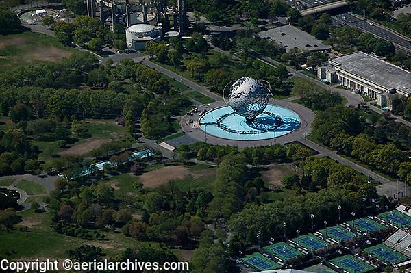 aerial photograph Unisphere Flushing Meadows Corona Park Queens New York