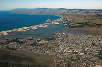 aerial photograph of Baywood-Los Osos with Morro Bay in the background, San Luis Obispo County, California