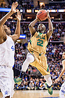 Mar. 28, 2015; Jerian Grant (22) goes up for a shot in the second half of the 2015 NCAA Tournament regional final against Kentucky. (Photo by Matt Cashore/University of Notre Dame)