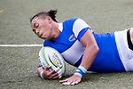 Che-Yu Sung of Chinese Taipei scores a try against China during the Asia Rugby U20 Sevens 2017 at King's Park Sports Ground on August 4, 2017 in Hong Kong, China. Photo by Yu Chun Christopher Wong / Power Sport Images