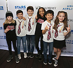 Cast members from 'School of Rock' attends the United Airlines Presents: #StarsInTheAlley Produced By The Broadway League on June 1, 2018 in New York City.