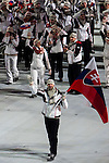 Olympic team of Slovakia during the parade of nations at the Opening ceremony of the 2014 Sochi Olympic Winter Games at Fisht Olympic Stadium on February 7, 2014 in Sochi, Russia. Photo by Victor Fraile / Power Sport Images