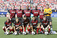 17 April 2004: MetroStars Starting LineUp photo before the game against DC United at Giants' Stadium in East Rutherford, New Jersey.
