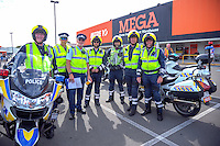 Police officers before stage five of the NZ Cycle Classic UCI Oceania Tour in Wairarapa, New Zealand on Tuesday, 26 January 2017. Photo: Dave Lintott / lintottphoto.co.nz