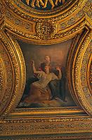 Europe/France/Bretagne/Ille et Vilaine/Rennes: Palais du Parlement de Bretagne détail du plafond de la grande Chambre peint par Coypel et Errard