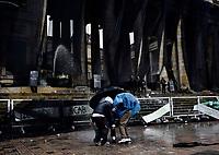 BOGOTÁ- COLOMBIA, 05-05-2021:Disturbios en la Plaza de Bolívar durante el 2 Paro Nacional. /Riots in the Plaza de Bolívar during the second National Strike. Photo: VizzorImage / Nicolás Alemán / Contribuidor