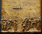 Story of Joshua and the Fall of Jericho Gates of Paradise Ghiberti Baptistry of San Giovanni Florence