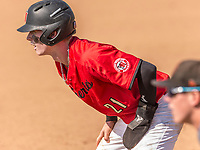 Harvard-Westlake Wolverines Pete Crow-Armstrong (21) leads off during a High School baseball game on May 14, 2019 in Encino, California.  (Terry Jack/Four Seam Images)