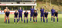 Coronaproof team picture of Anderlecht with Anderlecht's goalkeeper Justine Odeurs    Anderlecht's defender Silke Leynen    Anderlecht's midfielder Tine De Caigny    Anderlecht's defender Laura De Neve    Anderlecht's Tessa Wullaert    Anderlecht's forward Sarah Wijnants    Anderlecht's midfielder Charlotte Tison    Anderlecht's defender Laura Deloose   Anderlecht's midfielder Kassandra Missipo    Anderlecht's midfielder Stefania Vatafu    Anderlecht's forward Jarne Teulings     pictured during a female soccer game between RSC Anderlecht Dames and KRC Genk Ladies  on the sixth matchday of the 2020 - 2021 season of Belgian Womens Super League , Sunday 8 th of November 2020  in Overijse , Belgium . PHOTO SPORTPIX.BE | SPP | DIRK VUYLSTEKE