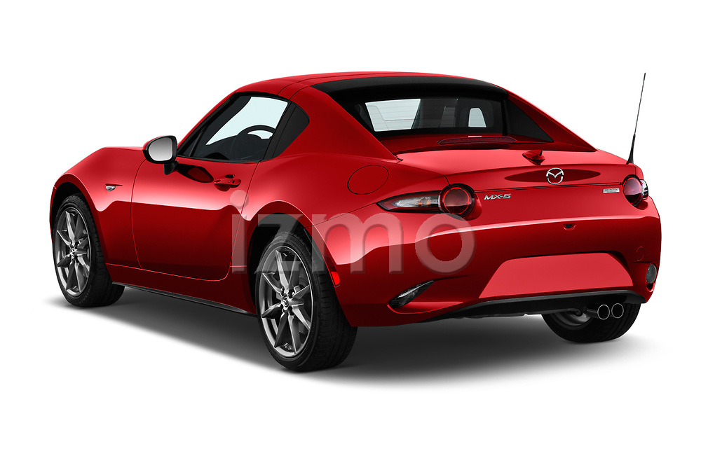 Car pictures of rear three quarter view of 2019 Mazda MX-5-Miata-RF Grand-Touring 2 Door Targa Angular Rear