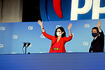 President of Community of Madrid and Candidate Isabel Diaz Ayuso celebrates with Pablo Casado, President of the Popular Party the victory in the Madrid regional elections at the PP headquarters on May 04, 2021 in Madrid, Spain.(AlterPhotos/Ramiro Ellis)