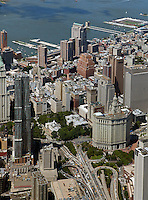aerial photograph Civic Center, Manhattan, New York City