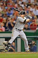 16 May 2012: Pittsburgh Pirates outfielder Nate McLouth in action against the Washington Nationals at Nationals Park in Washington, DC. The Nationals defeated the Pirates 7-4 in the first game of their 2-game series. Mandatory Credit: Ed Wolfstein Photo