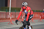 Danish Champion Kasper Asgreen (DEN) Deceuninck-Quick Step heads for the start of the 73rd edition of Kuurne-Brussel-Kuurne 2021 running 197km from Kuurne to Kuurne, Belgium. 28th February 2021  <br /> Picture: Serge Waldbillig | Cyclefile<br /> <br /> All photos usage must carry mandatory copyright credit (© Cyclefile | Serge Waldbillig)