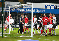 19th December 2020; Liberty Stadium, Swansea, Glamorgan, Wales; English Football League Championship Football, Swansea City versus Barnsley; Swansea City score their second goal of the game from a Matt Grimes corner to make it 2-0 in the 66th minute