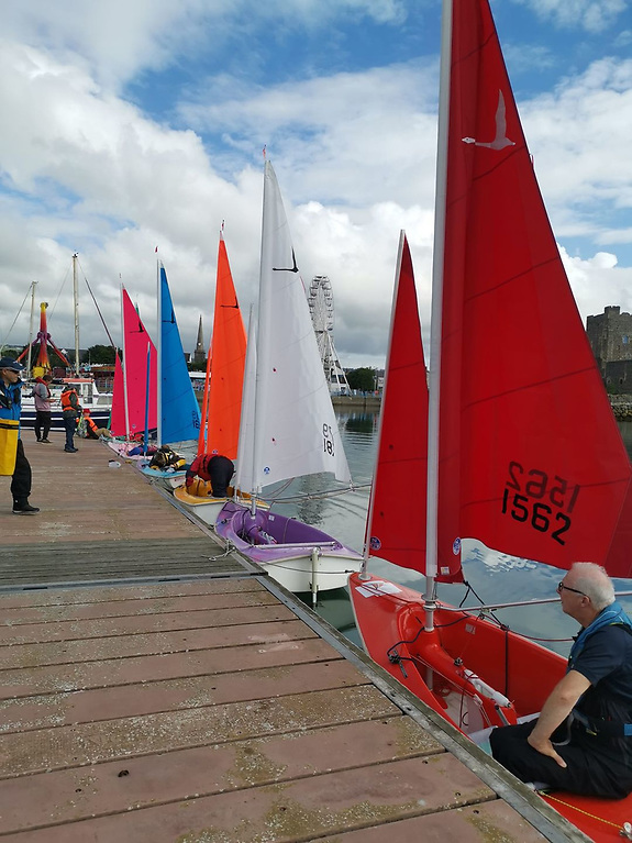 Visitors were welcomed from Lough Foyle and Lough Erne, making eight Sailability boats in all at Carrickfergus