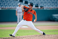 Bowie Baysox starting pitcher Brian Gonzalez (25) delivers a pitch during the first game of a doubleheader against the Trenton Thunder on June 13, 2018 at Prince George's Stadium in Bowie, Maryland.  Trenton defeated Bowie 4-3.  (Mike Janes/Four Seam Images)