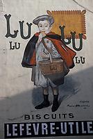 Europe/France/Ile-de-France/75018/Paris: Ancienne affiche pour les biscuits Lu rue d'Auteuil // Europe / France / Ile-de-France / 75018 / Paris: Old poster for Lu biscuits rue d'Auteui