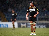 Photo: Richard Lane/Richard Lane Photography. London Wasps v Exeter Chiefs. 12/02/2012. Wasps' Jonathan Poff.