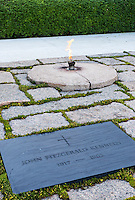 John F Kennedy Grave and Eternal Flame, Arlington Cemetery, Virginia, USA