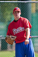 Pitcher Jesse Biddle the of the Gulf Coast League Phillies at the Disney Wide World of Sports Complex in Orlando, Florida July 10 2010. Biddle was the Philadelphia Phillies 1st round pick (27h overall) of the 2010 MLB Draft. Photo By Scott Jontes/Four Seam Images