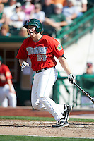 Fort Wayne TinCaps first baseman Connor Powers #34 during a Midwest League game against the Dayton Dragons at Parkview Field on August 19, 2012 in Fort Wayne, Indiana.  Dayton defeated Fort Wayne 5-1.  (Mike Janes/Four Seam Images)